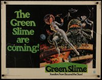 1p062 GREEN SLIME 1/2sh 1969 classic cheesy sci-fi movie, Livoti art of sexy astronaut & monster!