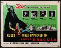 1p063 GUESS WHAT HAPPENED TO COUNT DRACULA 1/2sh 1970 art of vampire & victim, trip into nightmare!