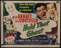 1p064 HOLD THAT GHOST 1/2sh R1948 scared Bud Abbott & Lou Costello, Andrews Sisters, ultra rare!
