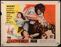 1p074 NEANDERTHAL MAN 1/2sh 1953 great wacky monster image, nothing could keep him from his woman!