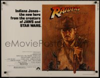 1p077 RAIDERS OF THE LOST ARK 1/2sh 1981 great art of adventurer Harrison Ford by Amsel!