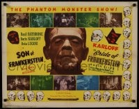 1p078 SON OF FRANKENSTEIN/BRIDE OF FRANKENSTEIN 1/2sh 1948 c/u of Boris Karloff as the monster!