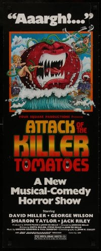 1p085 ATTACK OF THE KILLER TOMATOES insert 1979 wacky monster artwork by David Weisman!