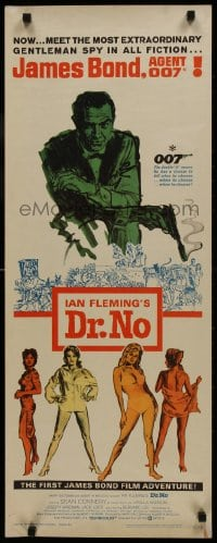 1p087 DR. NO insert 1963 Sean Connery is the most extraordinary gentleman spy James Bond 007, rare!