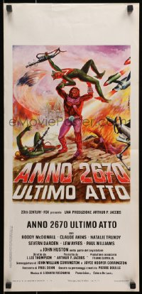 1p219 BATTLE FOR THE PLANET OF THE APES Italian locandina 1974 great different Spagnoli sci-fi art!