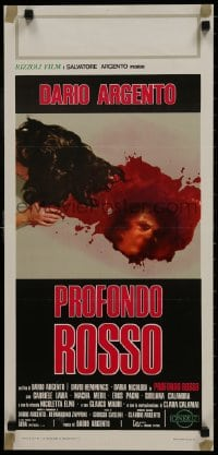 1p222 DEEP RED Italian locandina 1977 Argento, gruesome art of killer reflection in pool of blood!