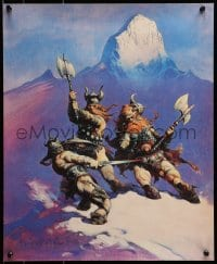 1p041 FRANK FRAZETTA 17x20 art print 1967 fantasy art of Snow Giants by the artist!