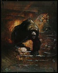 1p040 FRANK FRAZETTA 16x20 art print 1974 fantasy art of a huge chained up bear in dungeon!