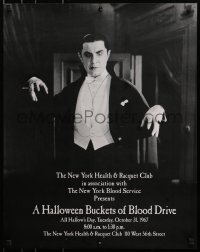 1p052 HALLOWEEN BUCKETS OF BLOOD DRIVE 22x28 special poster 1967 great image of Bela Lugosi as Dracula!