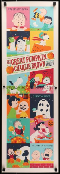 1p003 IT'S THE GREAT PUMPKIN, CHARLIE BROWN #134/280 12x36 print 2016 Dave Perillo art, standard!