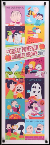 1p002 IT'S THE GREAT PUMPKIN, CHARLIE BROWN #46/50 12x36 art print 2016 Dave Perillo art, variant!