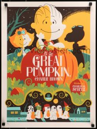 1p001 IT'S THE GREAT PUMPKIN, CHARLIE BROWN signed #191/280 18x24 print 2011 by Whalen, standard