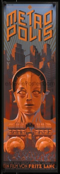 1p023 METROPOLIS #12/100 12x36 art print 2013 artwork by Laurent Durieux, regular edition!