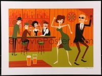 1p012 SHAG'S UNIVERSAL MONSTERS signed #26/150 18x24 art print 2013 Invisible Man dancing at bar!