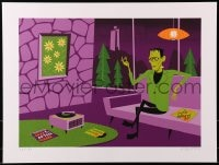 1p007 SHAG'S UNIVERSAL MONSTERS signed #26/150 18x24 art print 2013 Frankenstein listening to jazz!