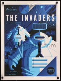 1p017 TWILIGHT ZONE #25/230 18x24 art print 2016 The Invaders, Tom Whalen art, standard edition!