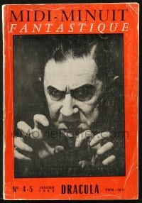 1r023 DRACULA French softcover book 1963 Bela Lugosi on the cover of Midi-Minuit Fantastique!