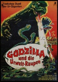 1r017 GODZILLA VS. THE THING German 1974 Ishiro Honda's Mosura tai Gojira, different sci-fi art!