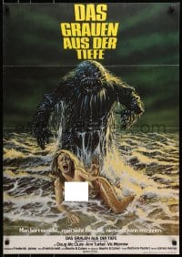 1r018 HUMANOIDS FROM THE DEEP German 1980 Bob Larkin art, only poster showing topless woman!