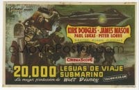 1r043 20,000 LEAGUES UNDER THE SEA Spanish herald 1955 Jules Verne classic, different MCP art!