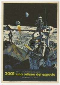 1r044 2001: A SPACE ODYSSEY Spanish herald 1968 Stanley Kubrick, McCall art of astronauts on moon!