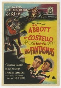 1r045 ABBOTT & COSTELLO MEET FRANKENSTEIN Spanish herald 1950 Wolfman & Dracula after Bud & Lou!