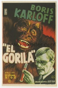 1r046 APE Spanish herald 1945 great different Jose Maria art of Boris Karloff & wacky gorilla!