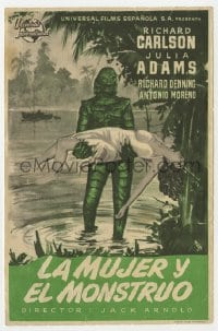 1r054 CREATURE FROM THE BLACK LAGOON Spanish herald 1954 MCP art of monster & sexy Julie Adams!