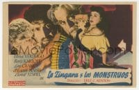 1r059 HOUSE OF FRANKENSTEIN Spanish herald 1948 Boris Karloff, Lon Chaney Jr. as Wolfman, Verdugo!