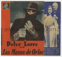 1r041 MAD LOVE Spanish herald 1935 Peter Lorre, Frances Drake, Colin Clive, different images!