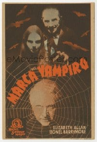 1r040 MARK OF THE VAMPIRE Spanish herald 1936 Bela Lugosi, Carroll Borland, Atwill, ultra rare!