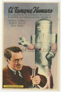 1r067 MYSTERIOUS DOCTOR SATAN part 2 Spanish herald 1943 different image with funky robot, serial!