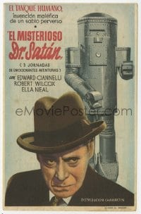 1r069 MYSTERIOUS DOCTOR SATAN whole serial Spanish herald 1943 different image of Ciannelli & robot!
