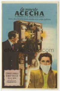 1r068 MYSTERIOUS DOCTOR SATAN part 3 Spanish herald 1943 different image of Ciannelli & gagged woman!