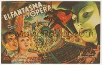 1r074 PHANTOM OF THE OPERA Spanish herald 1945 best artwork of Claude Rains on chandelier!