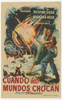 1r078 WHEN WORLDS COLLIDE Spanish herald 1954 George Pal doomsday classic, different Jano art!