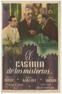 1r080 YOU'LL FIND OUT white title Spanish herald 1942 Boris Karloff, Peter Lorre & Kyser, different!