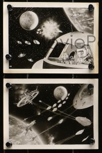 1r029 BATTLE IN OUTER SPACE 6 Japanese 5x7 stills 1960 Uchu Daisenso, space declares war on Earth!