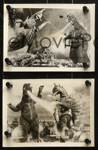1r026 GODZILLA ON MONSTER ISLAND group of 10 Japanese 5x7 stills 1976 Ghidrah, Gigan, Anguirus!