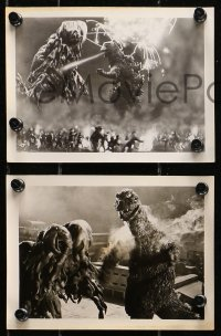1r028 GODZILLA VS. THE SMOG MONSTER 9 Japanese 5x7 stills 1971 Gojira tai Hedora, Toho sci-fi!
