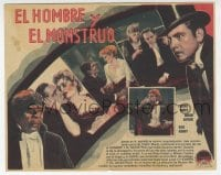 1r039 DR. JEKYLL & MR. HYDE Spanish herald 1931 different art of March as himself & monster, rare!