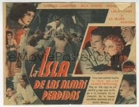 1r062 ISLAND OF LOST SOULS Spanish herald 1933 sexy Panther Woman Kathleen Burke, different & rare!