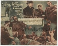 1r076 SON OF FRANKENSTEIN Spanish herald 1942 monster Boris Karloff, Bela Lugosi, Basil Rathbone