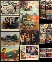 1s059 LOT OF 28 ENGLISH LOBBY CARDS 1960s-1970s great scenes from a variety of different movies!