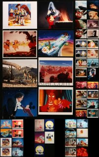 1s977 LOT OF 53 COLOR WALT DISNEY 8X10 REPRO PHOTOS 1990s-2000s great animation images!