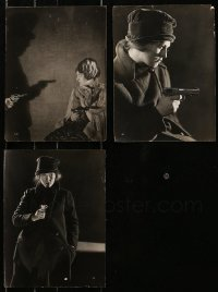 1s963 LOT OF 3 PRISCILLA DEAN 7X10 STILLS 1920 three great close images of her with a gun!