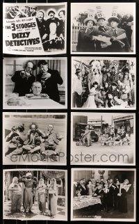 1s993 LOT OF 8 THREE STOOGES 8X10 REPRO PHOTOS 1980s great scenes from their slapstick comedies!