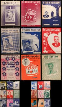 1s122 LOT OF 27 SHEET MUSIC 1930s-1950s great songs from a variety of singers!