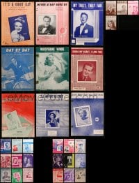 1s130 LOT OF 31 SHEET MUSIC 1930s-1950s great songs from a variety of singers!