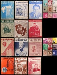 1s129 LOT OF 30 SHEET MUSIC 1930s-1950s great songs from a variety of singers!